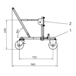 Product Overview - ISO Container Support Jack positional trolley for 3108.32 (205 470) and 2942.32 (200 261)